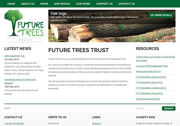 Future Trees Trust website thumbnail